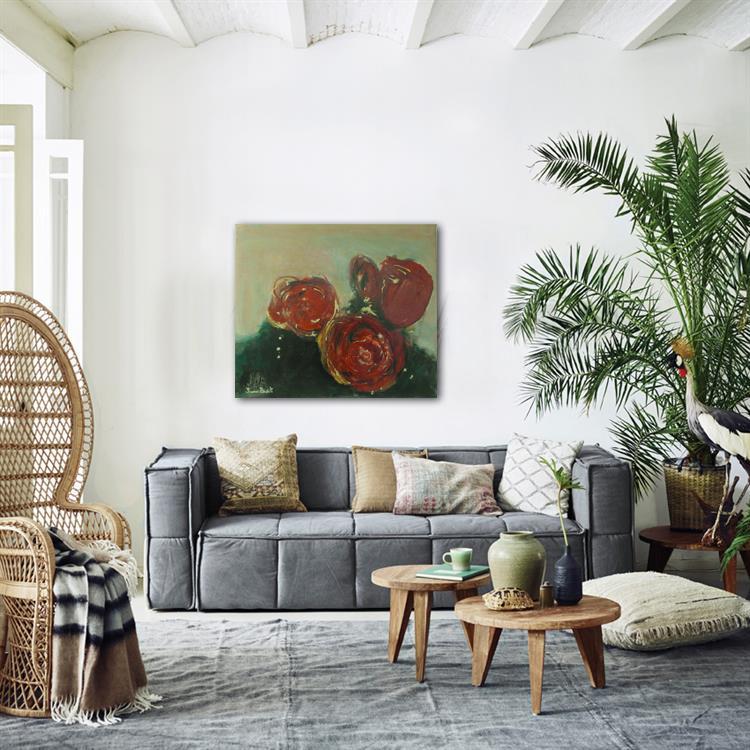 Kamer met rozen